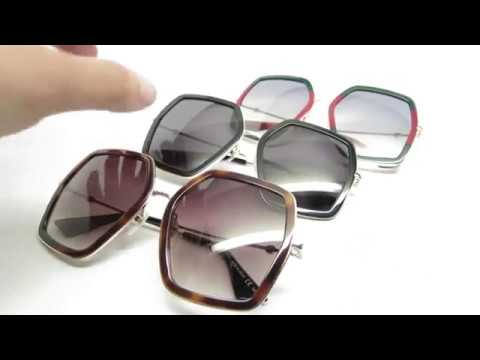 b7c3d86437aa4 Gucci GG0106S 001 002 007 Sunglasses Review - YouTube