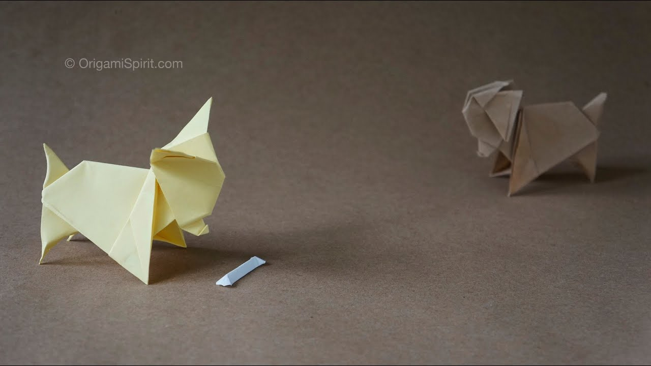 Origami dog perro chihuahua youtube jeuxipadfo Image collections