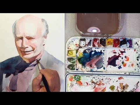 Painting Shapes in Watercolor Portrait Painting