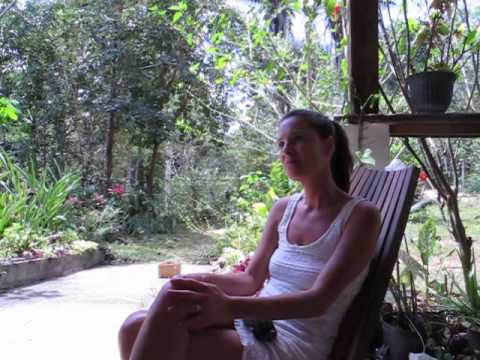 Beth Azore at the Chaya Garden Ashram Belize Yoga Hot Spot