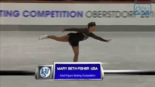 Mary Beth FISHER. Oberstdorf 2018. Silver Ladies IV - Free Skating. 11 place