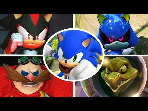 Sonic Boom Rise Of Lyric - All Bosses + Cutscenes