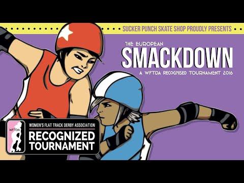 Smackdown 2016: Detroit Derby Girls Allstars vs. Helsinki Roller Derby Allstars