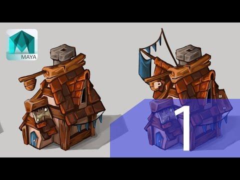 Maya Modeling Tutorial - Cartoony Home - PT.1
