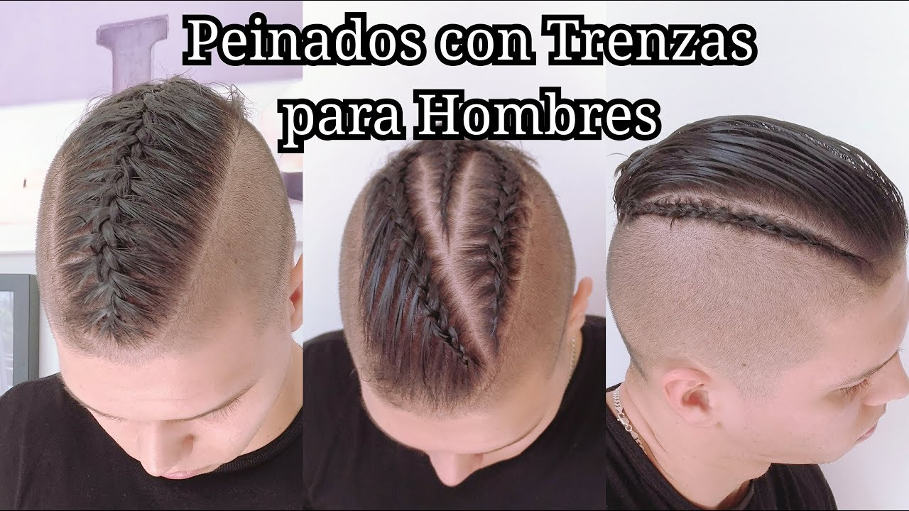 Peinados Con Trenzas Para Hombres Peinados Fáciles Para Pelo Corto By Belleza Sin Limites Youtube