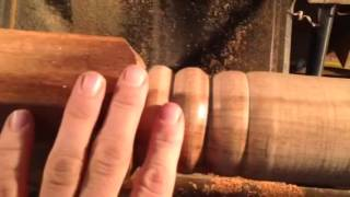 Turning Wood Table Legs On A Lathe Vid 3