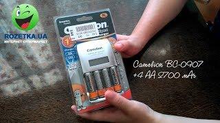 Розпакування Зарядного пристрою для акумуляторів Camelion BC-0907 +4 AA 2700 маг з Rozetka.com.ua