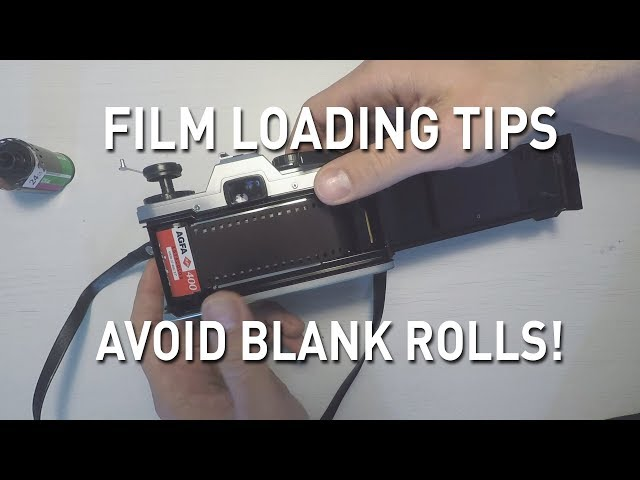 Beginner tips for loading film. Avoid blank rolls!