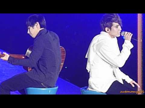 [HD fancam] 101120 KRY in Taiwan - Ryeowook ft Sungmin - One Fine Spring Day (Chinese ver)