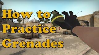 CS:GO Practice Grenade throws and Training Smoke Spots