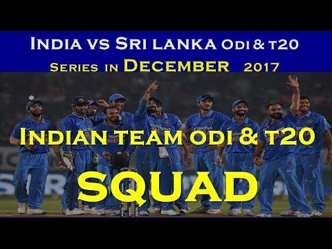 Sri lanka tour of india 2017 Indian squad | indian odi squad for sl 2017 | Indian t20 squad sl 2017