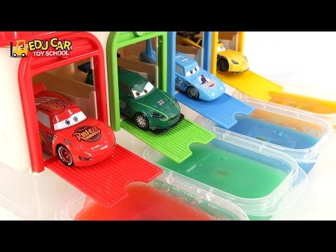 Thumbnail: Learning Color Number With Disney PIXAR Cars Lightning McQueen Mack Truck Jelly for kids car toys