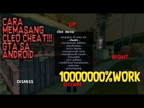 Cara Memasang Cleo Cheat GTA SA ANDROID 100% WORK