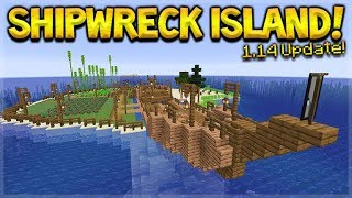 MINECRAFT 1.14 - SHIPWRECK SURVIVAL ISLAND! THEY ADDED BARREL CHESTS! (Dinnerbone Seed)