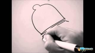 Como desenhar um sino de natal