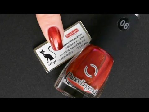 Dance Legend  Golden eye Collection -Magnetic nail polish Tutorial- (06 From Russia with Love)