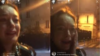 "Lindsay Lohan Instagram Live PUNCHED: Trying To ""Save"" Child Refugees from Syria in Moscow"