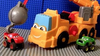 Play Doh Cars Buster Power Crane Wrecking Ball Diggin Rigs Monster Truck McQueen Disney Pixar toys