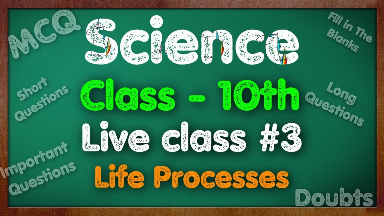 Science, Class 10th,  Live Class 3, Life Processes