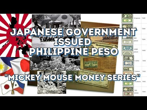 Japanese Government Issued Philippine Peso| Philippine Mickey Mouse Money Series