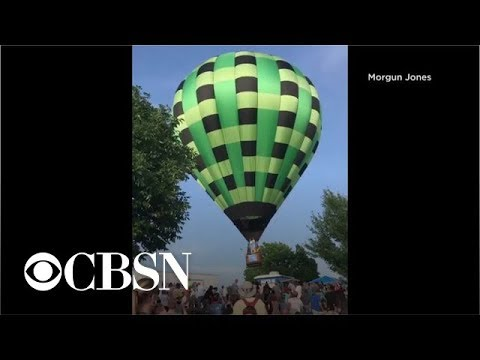 Tanner and Drew - Hot Air Balloon Crashes Into Crowd