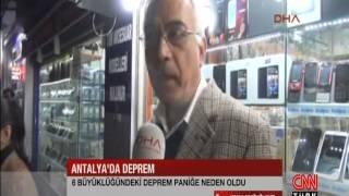 Antalya'da 6.0'lık deprem (Ahmet istek/ antalya/dha)