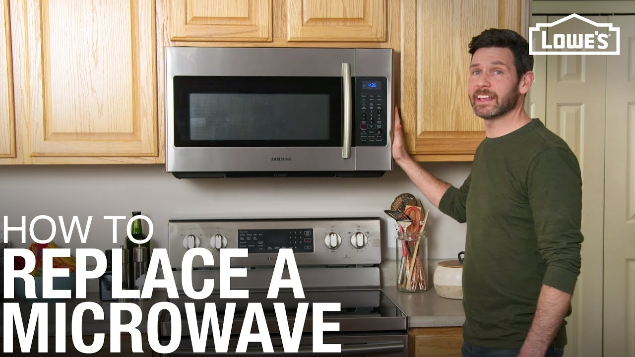 How To Replace A Microwave Youtube