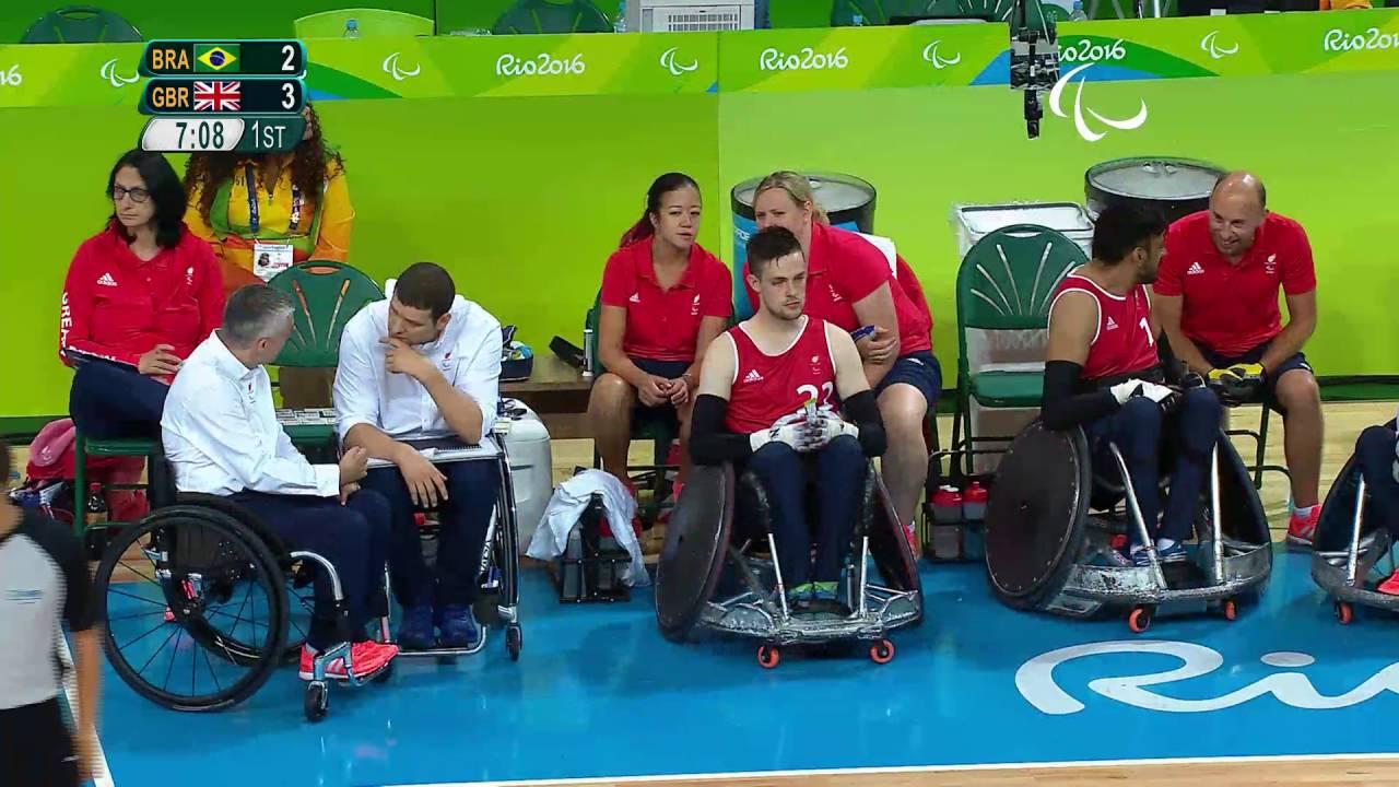 wheelchair rugby great britain vs brazil preliminary rio 2016