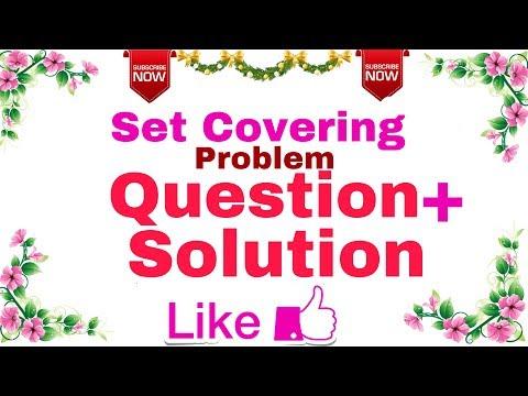 (Ep-14) Algorithm | Set Cover Problem(Question + Solution ).