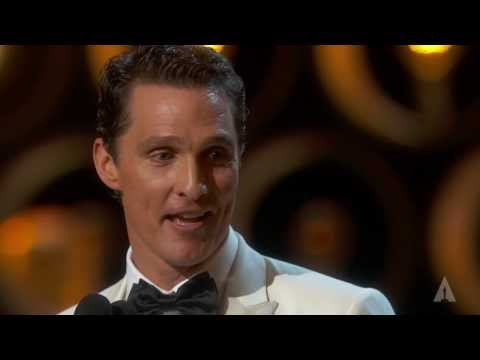 Matthew McConaughey winning Best Actor