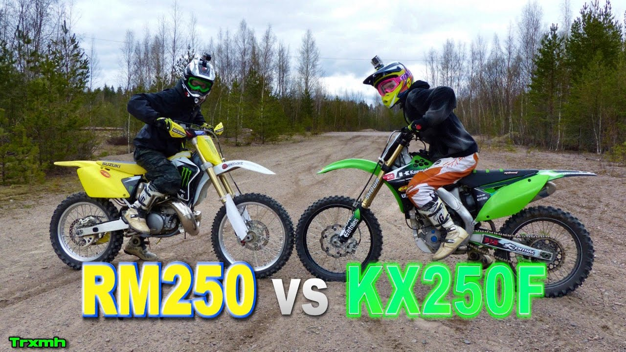 Dirt Bikes RM250 vs KX250F - YouTube