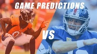 New York Giants vs Denver Broncos Predictions