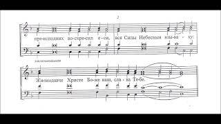 Тропарь воскресный глас 2 сопрано