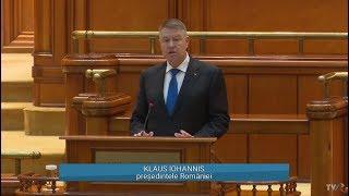 Discurs Klaus Iohannis în Parlament, la 30 de ani de la Revoluția din decembrie 1989