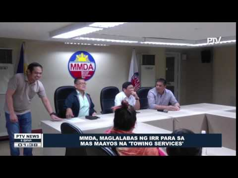 MMDA, maglalabas ng IRR para sa mas maayos na 'towing services'