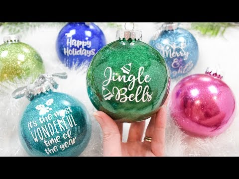 How to Make DIY Glitter Ornaments the Easy Way!