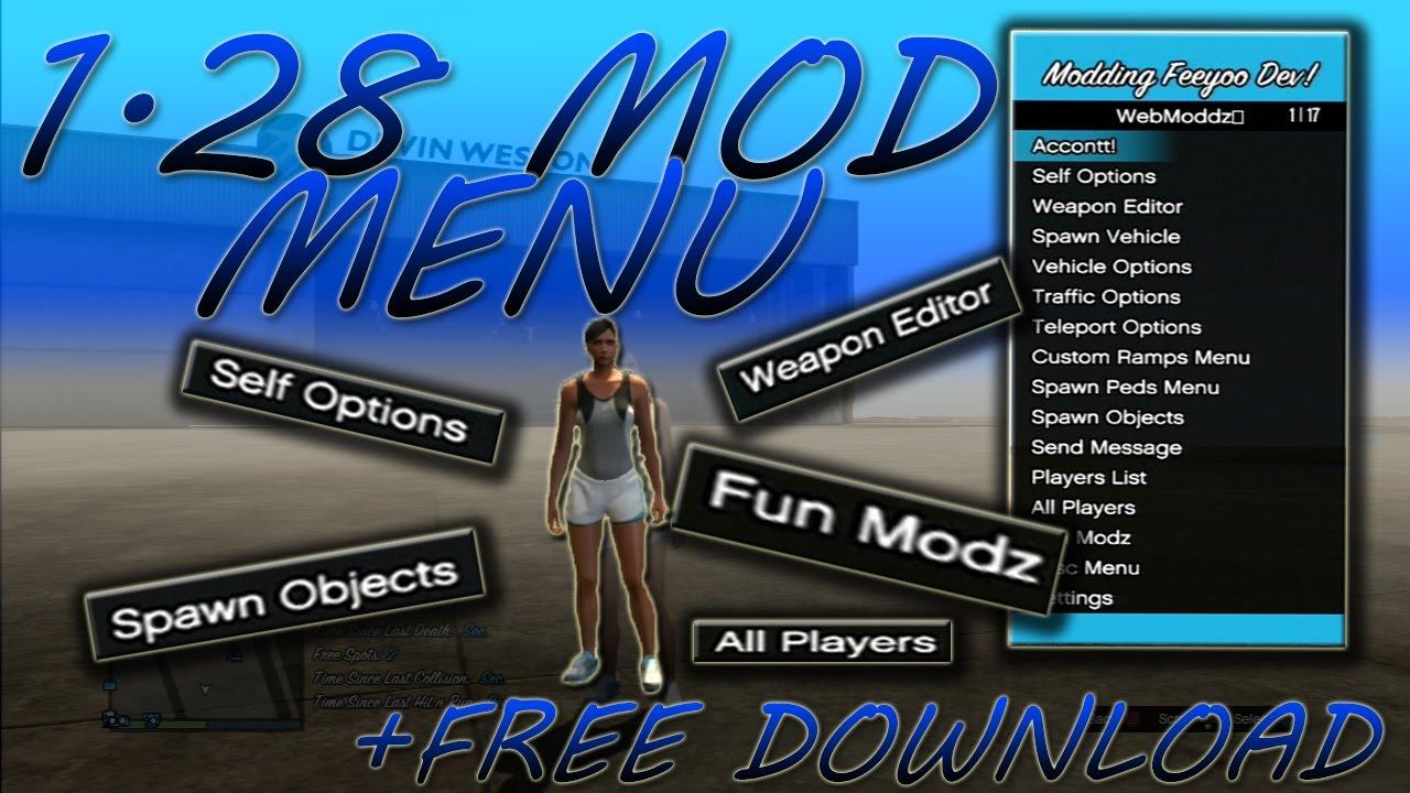 GTA 5 ONLINE: FEEYO MODDING V2 MOD MENU 1 28 + FREE DOWNLOAD