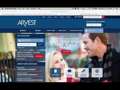 Arvest Bank Online Banking Login