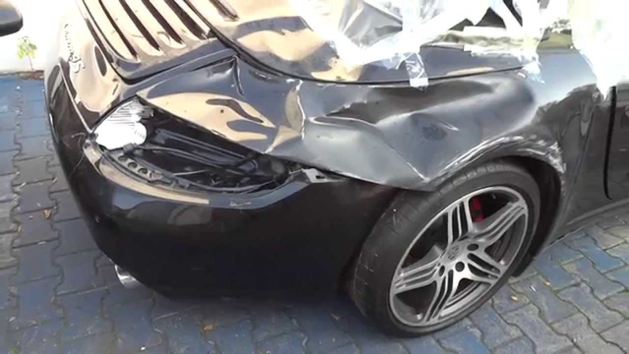 Bmw M3 A Vendre >> Porsche 911 Carrera 4S 997 Cabrio CRASH Unfall - crashed 991 996 Wrecked wreck exotic - YouTube
