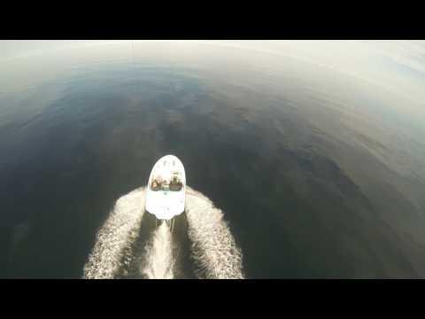 Kite View, bird view a jet boat on Lake Ontario