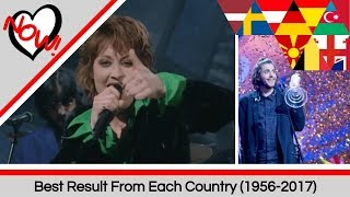 Each Country's Best Result (1956-2017) | Eurovision