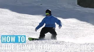 How To Ride Bumpy Terrain & Moguls On A Snowboard