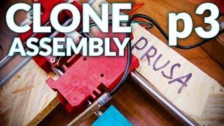 Prusa i3 MK2 3D printer clone live assembly: p3, X & Y Motion
