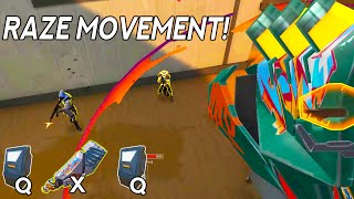 RAZE MOVEMENT OUTPLAYS IN VALORANT HIGHLIGHTS!