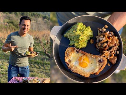 toast-a-l'oeuf,-avocat-et-salade-endive-noix-/-herve-cuisine-en-plein-air-episode-4