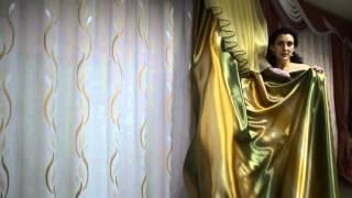 Белый тюль с золотистым узором(Белоснежная полупрозрачная тюль с золотистым узором. Купить белый тюль вы можете на сайте - http://salon-gardin.com.ua/..., 2015-10-27T10:41:09.000Z)