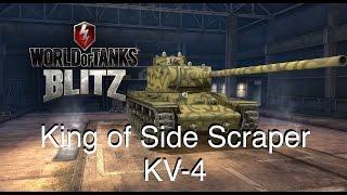 world of tanks blitz king of sidescraper kv 4 gameplay 역티타임의 왕 병사