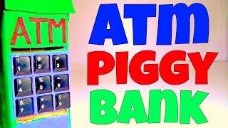 How to make ATM Piggy Bank for Kids -- Life Hacks For Kids