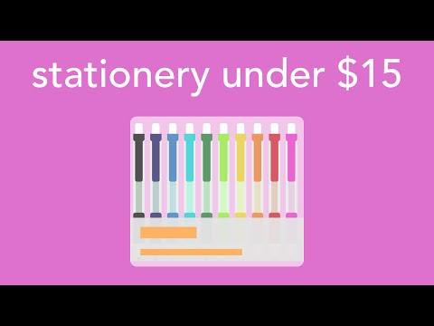 stationery under $15