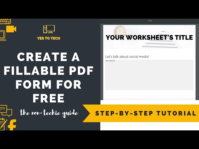 how to create a fillable pdf form for free yes to tech stand out